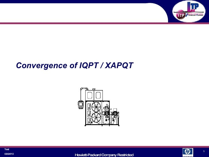 Convergence of IQPT / XAPQT 03/24/10 Test