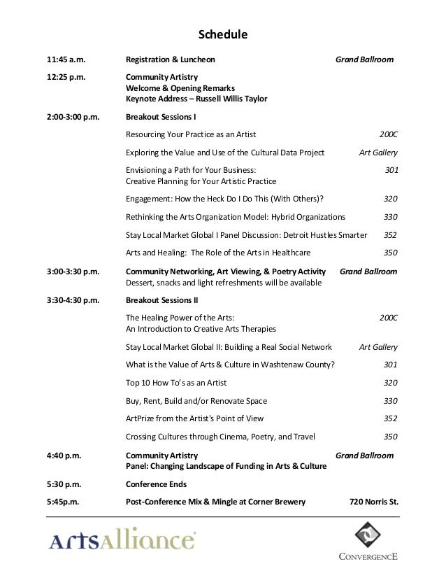 Sample* Conference Program