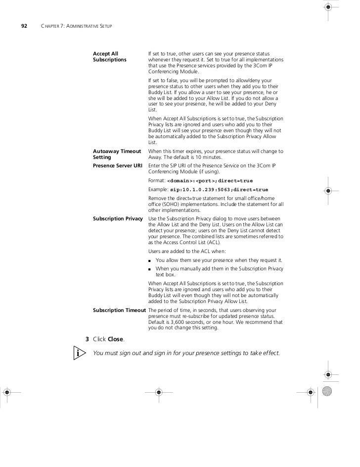 3com_Convergence center client_7.2_user_guide