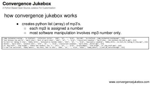 Convergence Jukebox Overview