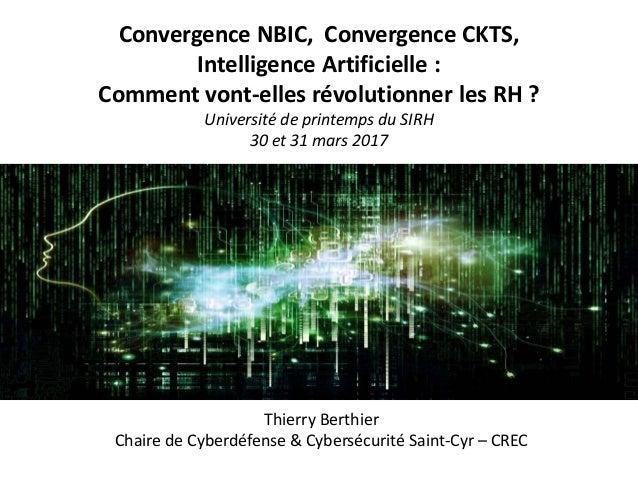 Convergence NBIC, Convergence CKTS, Intelligence Artificielle : Comment vont-elles révolutionner les RH ? Université de pr...