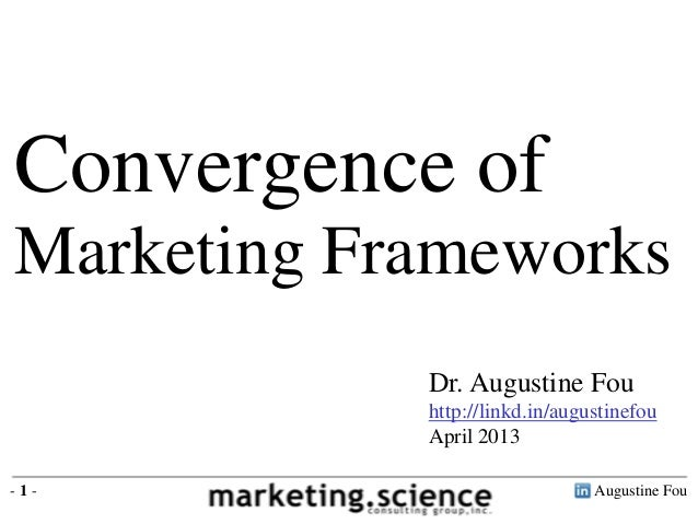 Augustine Fou- 1 -Dr. Augustine Fouhttp://linkd.in/augustinefouApril 2013Convergence ofMarketing Frameworks