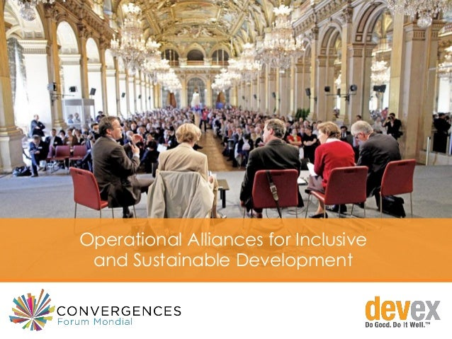 Operational Alliances for Inclusive and Sustainable Development
