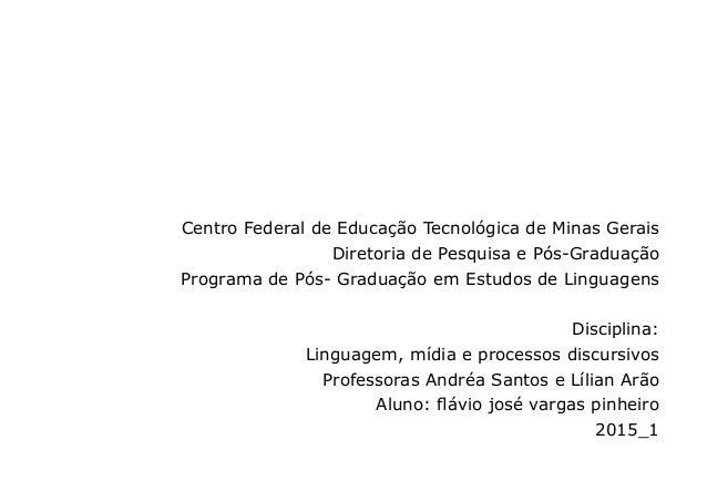 Centro Federal de Educação Tecnológica de Minas Gerais Diretoria de Pesquisa e Pós-Graduação Programa de Pós- Graduação em...