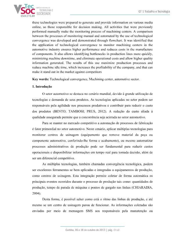 Convergencia Tecnologica para Monitor Centros de Usinagem Slide 2