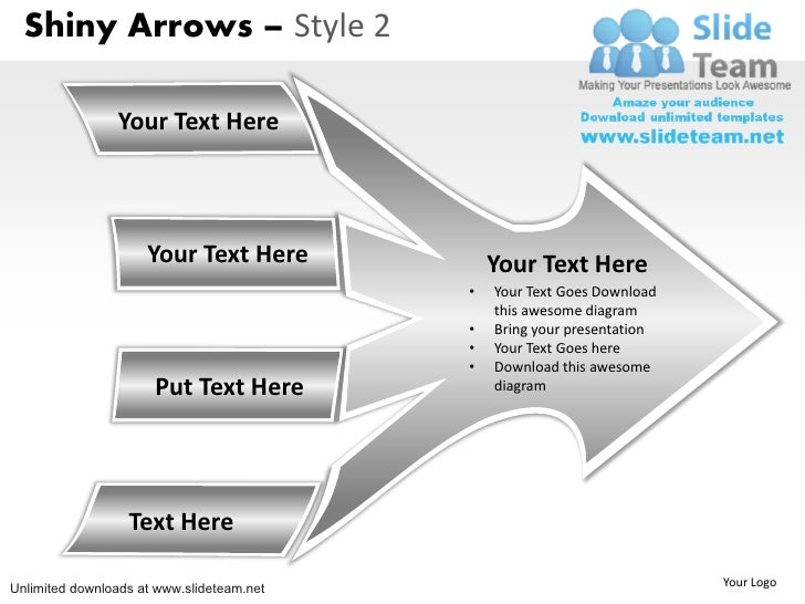 Shiny Arrows – Style 2                Your Text Here                     Your Text Here            Your Text Here         ...