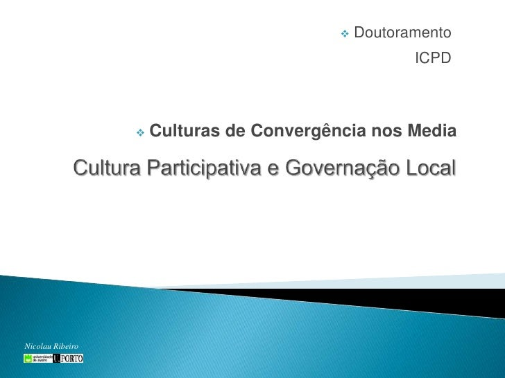 <ul><li> DoutoramentoICPD