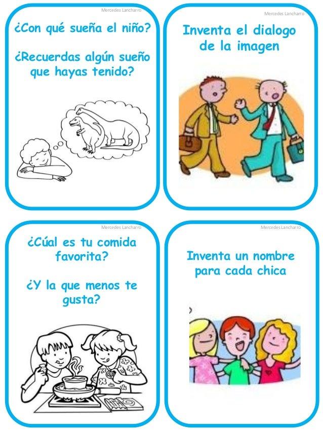 Mercedes Lancharro  ¿Con que sueña la niña?  Mercedes Lancharro  Inventa el diálogo de la imagen  Mercedes Lancharro  Imag...