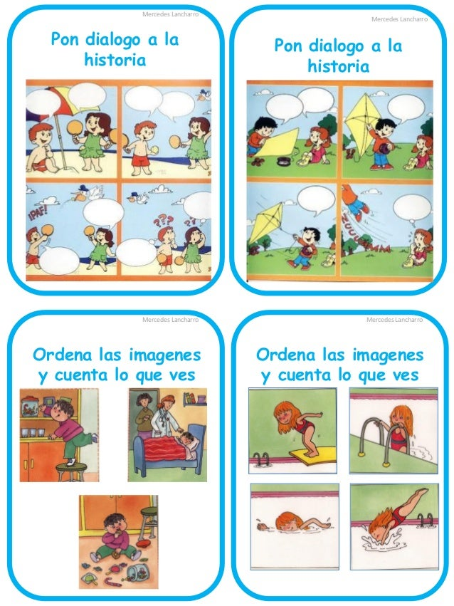 Mercedes Lancharro  Ordena las imagenes y cuenta la historia  Mercedes Lancharro  Ordena las imagenes y cuenta la historia...