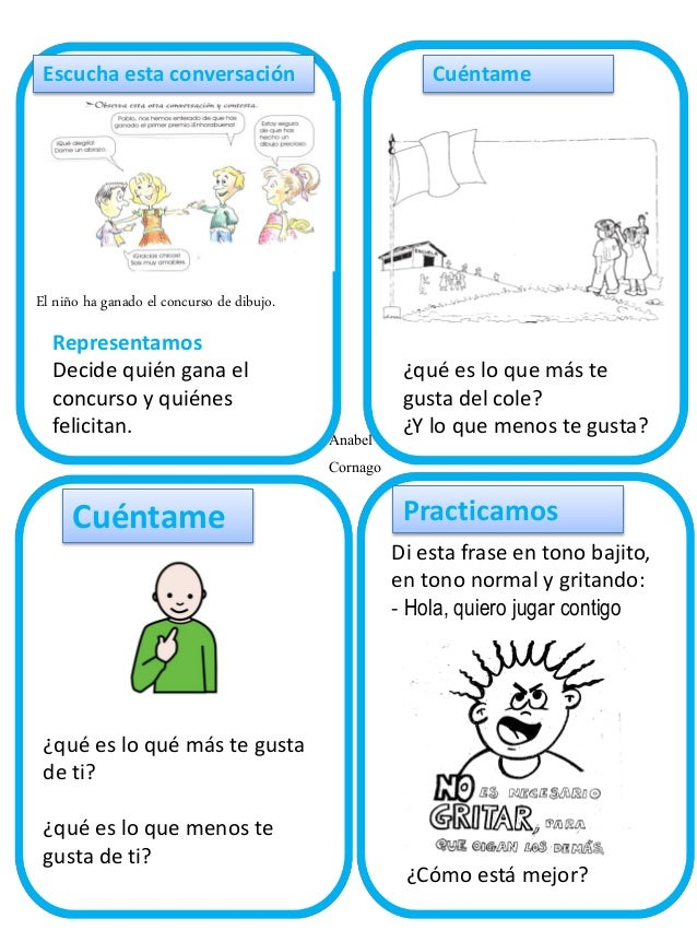 Escucha esta conversación  Cuéntame  El niño ha ganado el concurso de dibujo.  Representamos Decide quién gana el concurso...