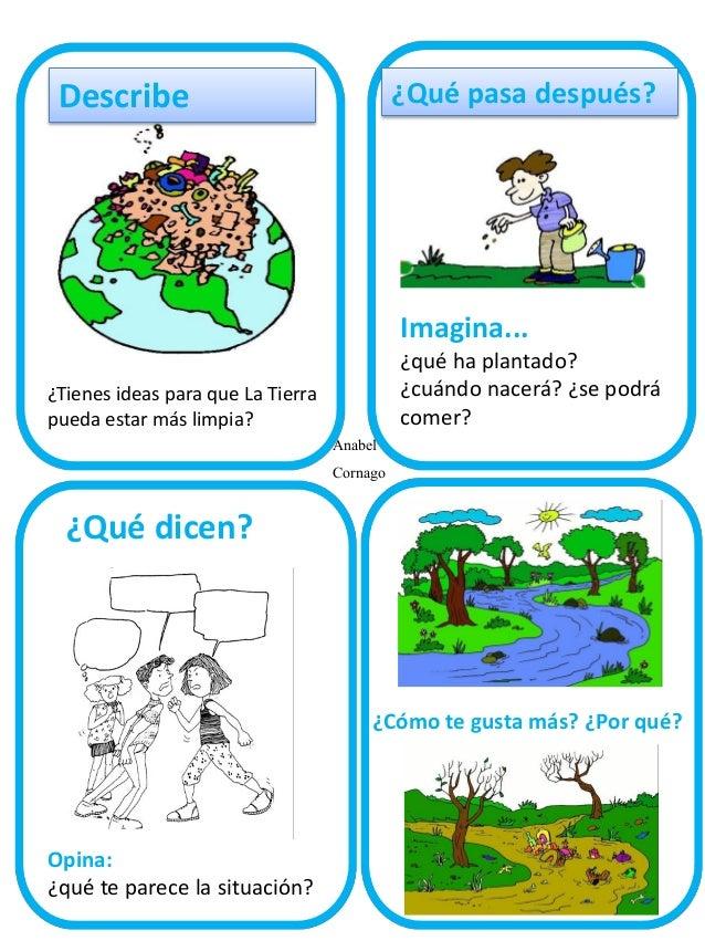 ¿Qué pasa después?  Describe  Imagina... ¿Tienes ideas para que La Tierra pueda estar más limpia?  Anabel Cornago  ¿qué ha...