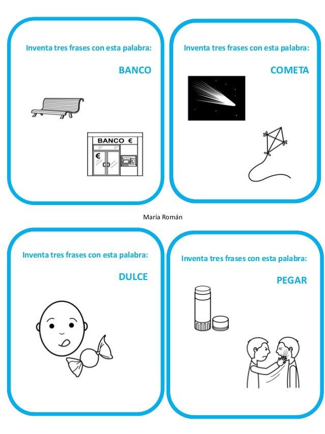 Inventa tres frases con esta palabra:  Inventa tres frases con esta palabra: s  PLANTA  BAÑO  María Román  Inventa tres fr...