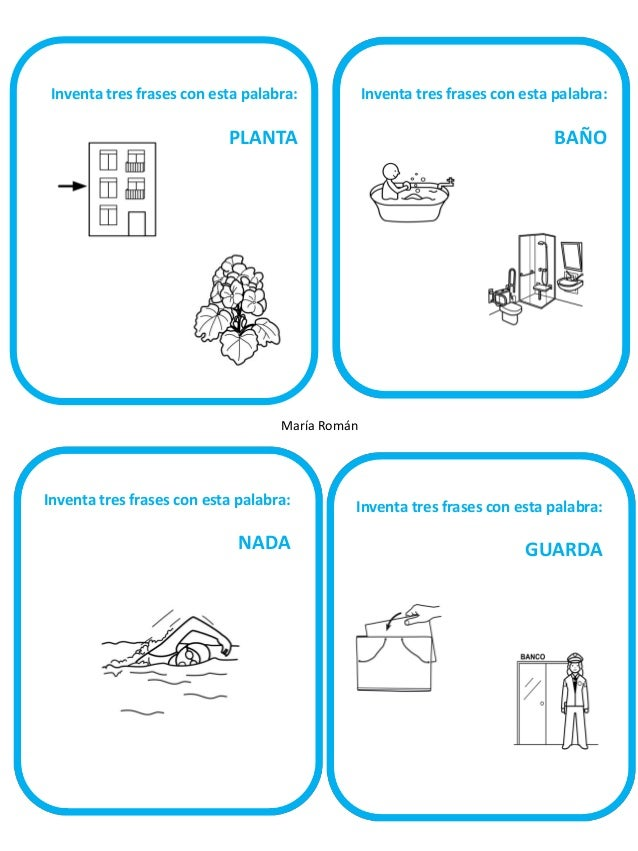 Inventa tres frases con esta palabra:  Inventa tres frases con esta palabra: s  BARRA  CAMPO  María Román  Inventa tres fr...