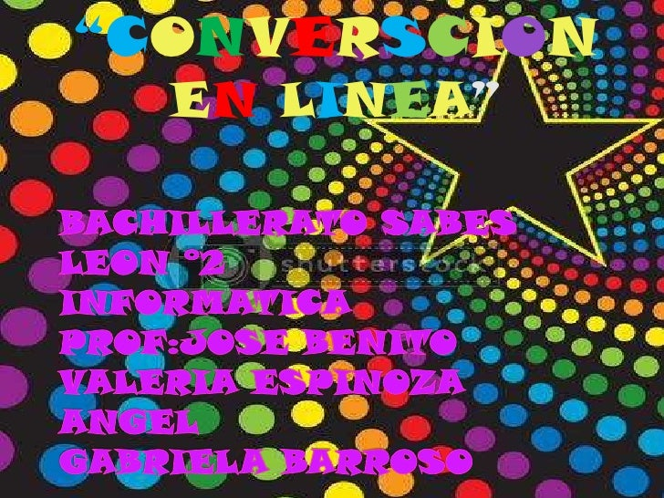 """CONVERSCION  EN LINEA"""
