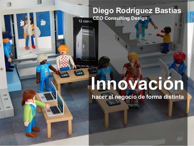 Innovación hacer el negocio de forma distinta Diego Rodríguez Bastías CEO Consulting Design