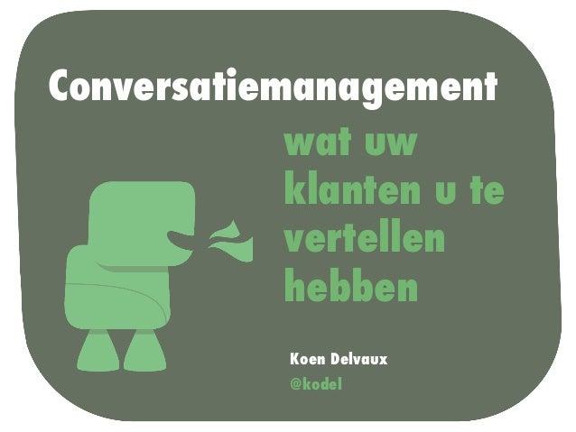 Conversatiemanagement