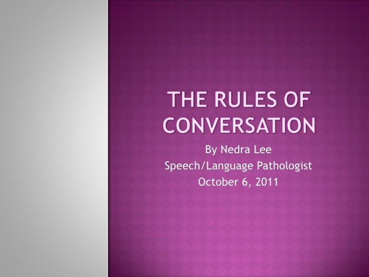 By Nedra Lee Speech/Language Pathologist October 6, 2011