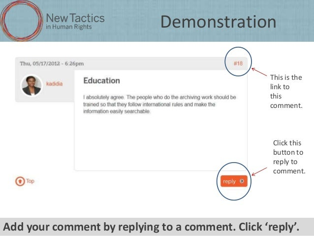 8744f79c6a1c How to participate in a New Tactics online conversation