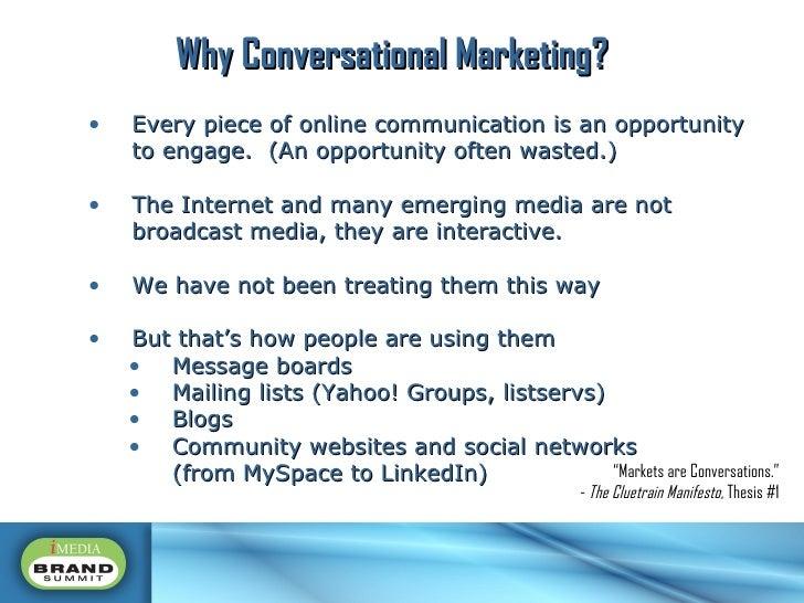 <ul><li>Every piece of online communication is an opportunity to engage.  (An opportunity often wasted.) </li></ul><ul><li...
