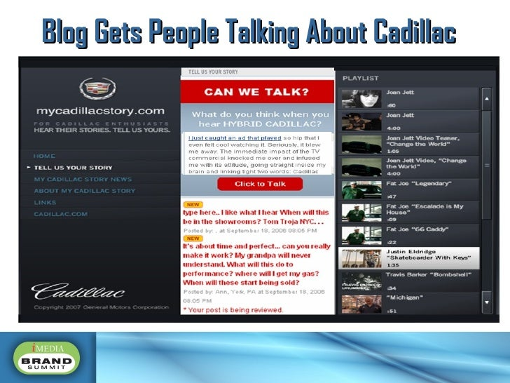 Blog Gets People Talking About Cadillac