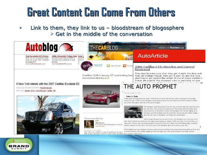<ul><li>Link to them, they link to us – bloodstream of blogosphere </li></ul><ul><ul><ul><ul><li>Get in the middle of the ...