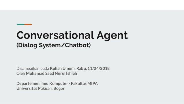Conversational agent