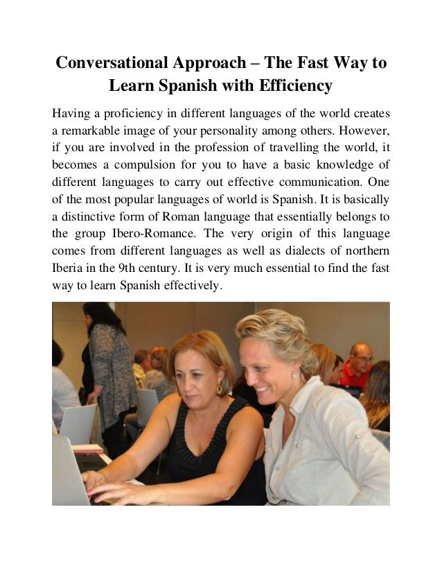 English In Italian: Fast Way To Learn Spanish With Efficiency