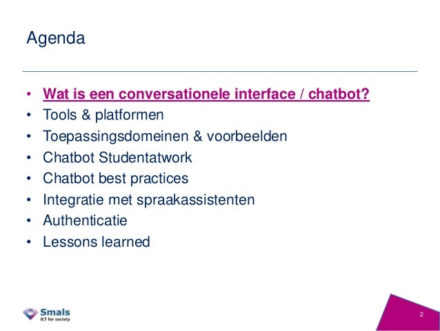 Conversational interfaces & chatbots - 2018-09 Slide 2