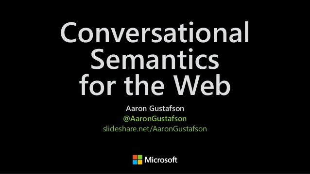 Conversational Semantics