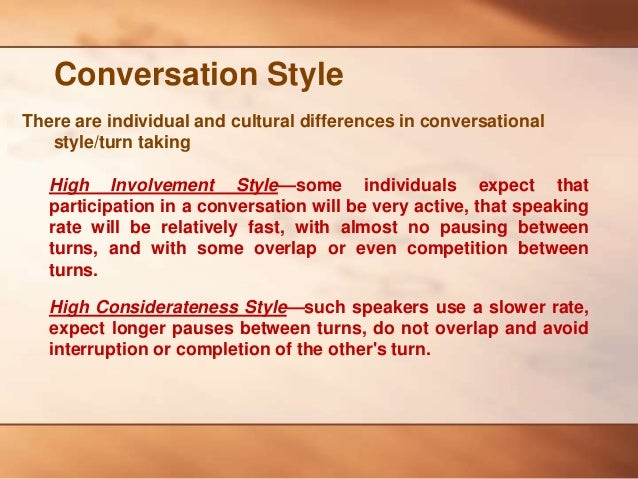 One sided conversation definition