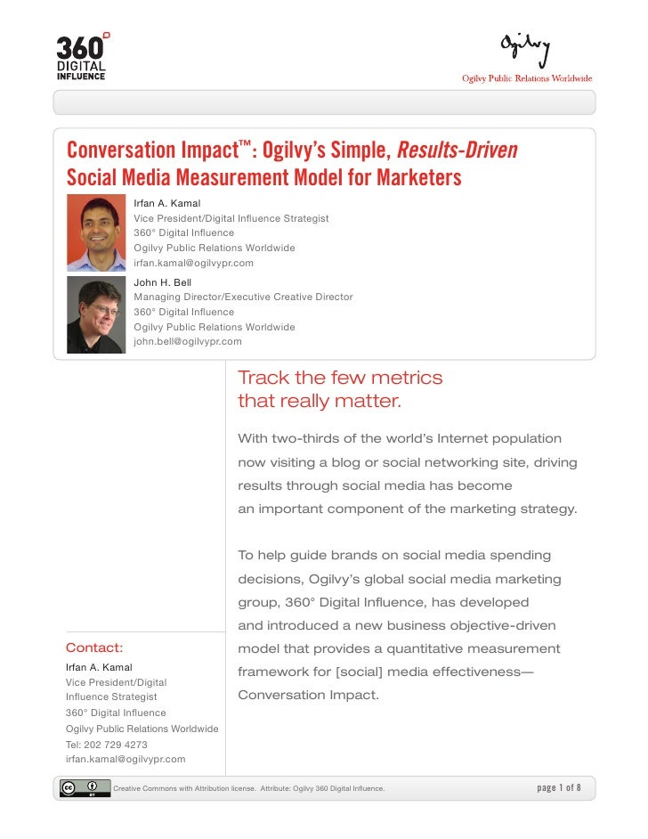 Conversation impact social media measurement by irfan kamal and john bell