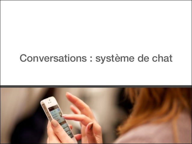 Conversations : système de chat