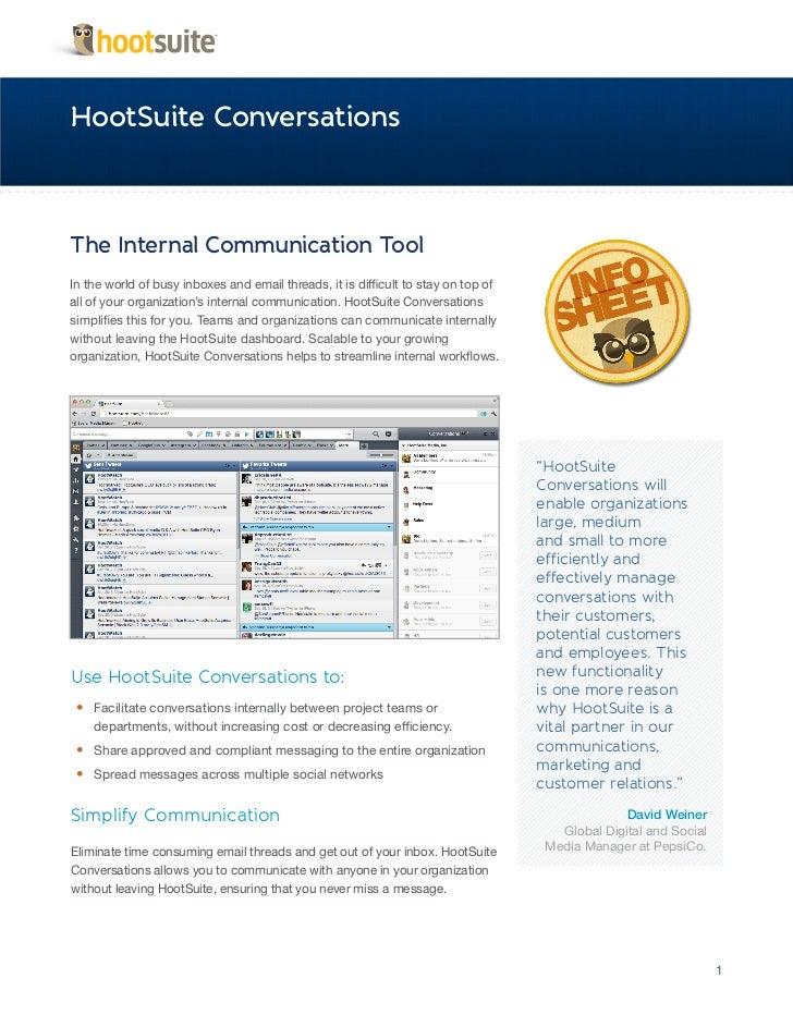HootSuite Conversations Infosheet