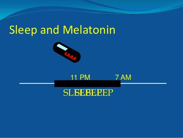 Sleep and Melatonin  11 PM  SLEEP SLEEP SLEEP  7 AM