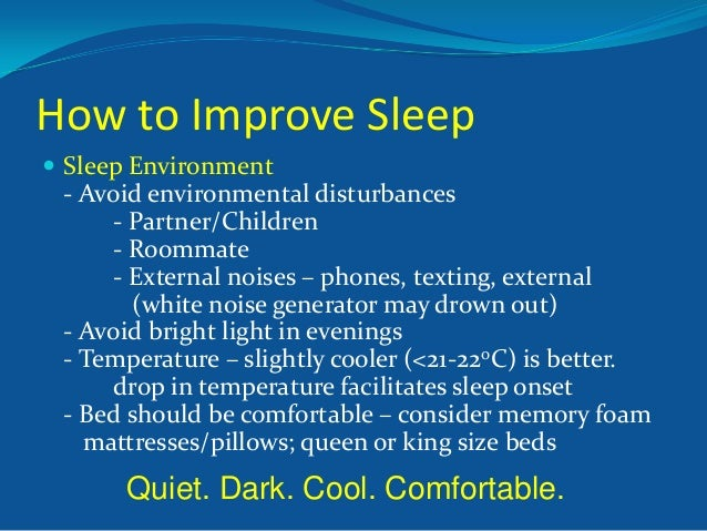 understanding the importance of sleep 1 understand the importance of sleep 1 explain how sleep contributes to an individual's well-being 2 identify reasons why an individual may find it hard to sleep 3 describe the possible short-term and long-term effects on an individual who is unable to sleep well.