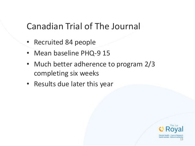 """14 Canadian Trial of The Journal """"The Journal is my mirror - in my 56 years this is the first time I'm seeing myself insid..."""