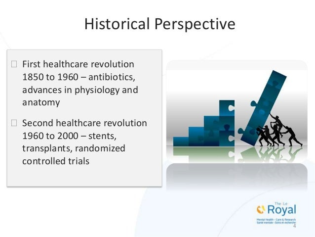  First healthcare revolution 1850 to 1960 – antibiotics, advances in physiology and anatomy  Second healthcare revolutio...
