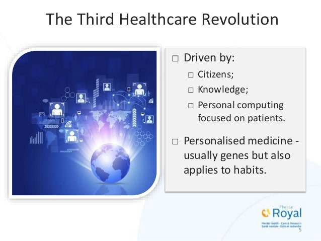 □ Driven by: □ Citizens; □ Knowledge; □ Personal computing focused on patients. □ Personalised medicine - usually genes bu...