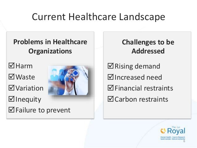 Current Healthcare Landscape Problems in Healthcare Organizations Harm Waste Variation Inequity Failure to prevent Ch...