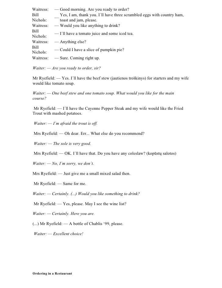 Conversations food