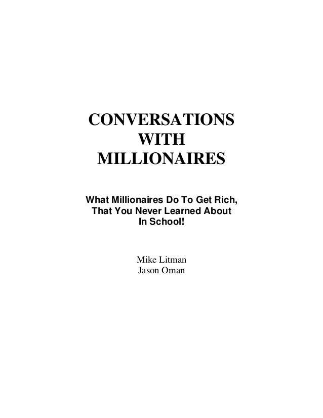 conversations with millionaires mike litman pdf