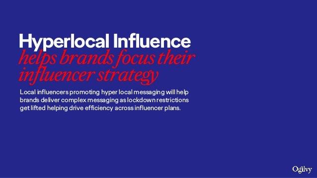 HyperlocalInfluence helpsbrandsfocustheir influencerstrategy Local influencers promoting hyper local messaging will help b...