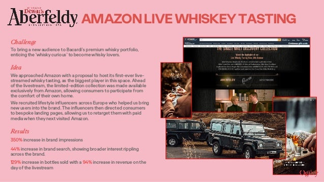 Challenge To bring a new audience to Bacardi's premium whisky portfolio, enticing the 'whisky curious' to become whisky lo...