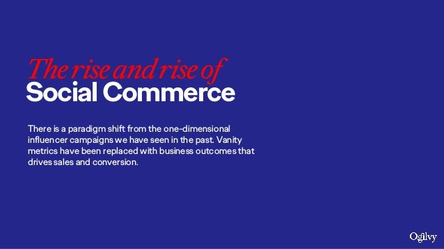Theriseandriseof SocialCommerce There is a paradigm shift from the one-dimensional influencer campaigns we have seen in th...