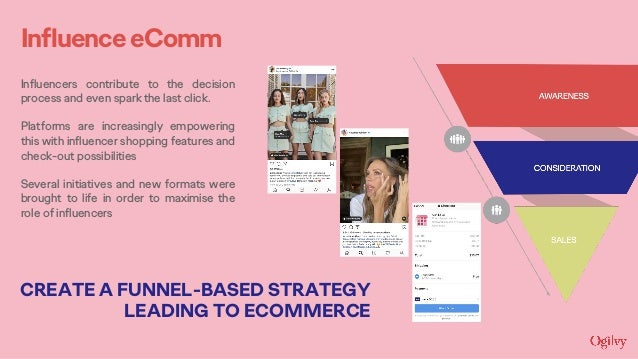 InfluenceeComm Influencers contribute to the decision process and even spark the last click. Platforms are increasingly em...