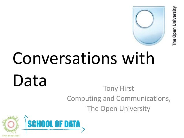 Conversations with  Data Tony Hirst  Computing and Communications,  The Open University