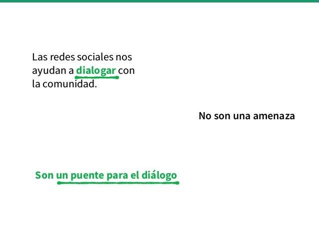 Gestión de Redes Sociales para las Bibliotecas Públicas Slide 2