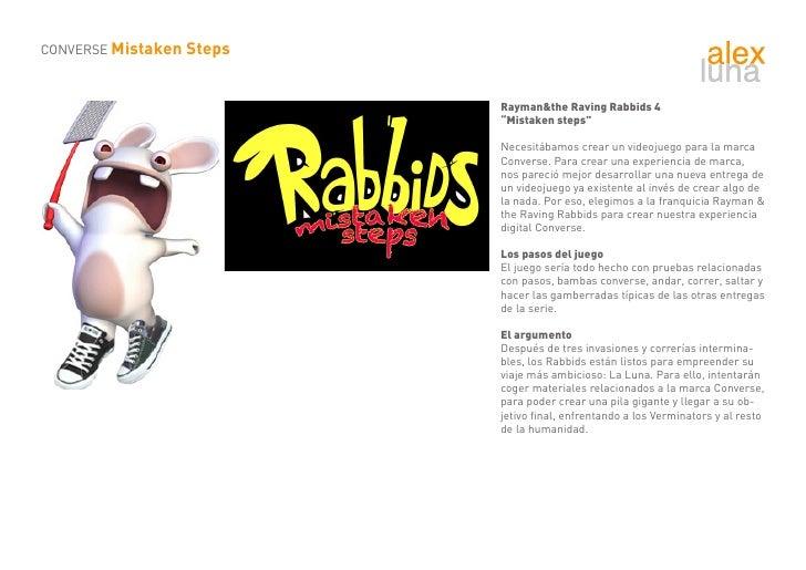 "CONVERSE Mistaken Steps                              Rayman&the Raving Rabbids 4                           ""Mistaken steps..."