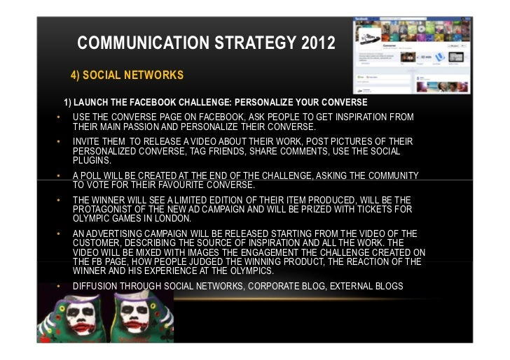 COMMUNICATION STRATEGY 2012 4 SOCIAL NETWORKS