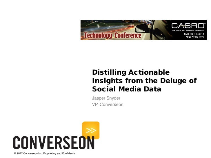 Distilling Actionable                                                      Insights from the Deluge of                    ...